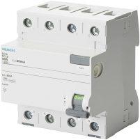 Siemens 5Sv4342-0 25A 30Ma 400V (3 Faz + Nötr) Kaçak Akım Koruma Rölesi