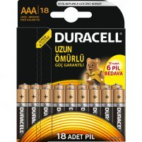 Duracell Alkalin AAA İnce Kalem Pil 18'li