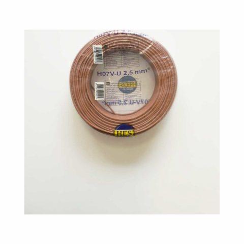 Hes Nya Kablo Tek Damar Kahverengi 2,5 mm 100 M