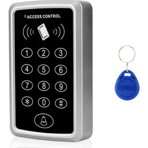 Avrasya Aydınlatma Rfıd Şifreli Kapı Kilidi - Kartlı Geçiş Kontrol Göstergeç Sistemi + 15 Adet Manyetik Proximity Anahtarlık Tag