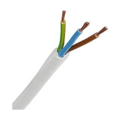 Öznur 3 X 2,5 TTR Kablo 1 m Beyaz Tam Bakır