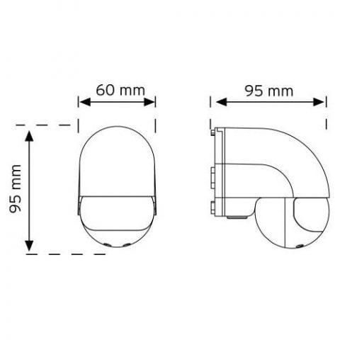 Nade 180 Derece Duvar Tipi Hareket Sensörü 10180