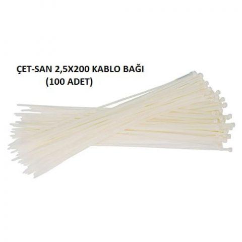 Çetsan 2,5X200 Kablo Bağı