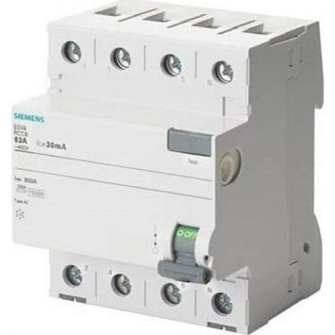 Siemens 5Sv4646-0 - 3X63A 300Ma Kaçak Akım Rölesi - 70Mm