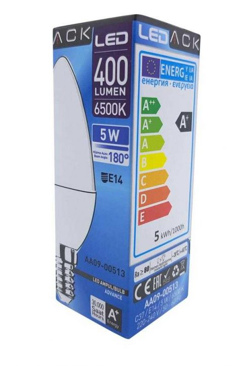 ACK 5W E14 LED MUM AMPÜL BEYAZ IŞIK 6500K